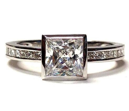 Bezel Set Diamond Engagement Ring Mounting