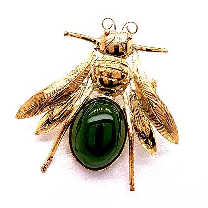 Jadeite Bee Pin c1960