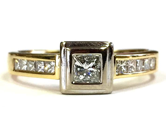 Yellow & White Gold Diamond Ring