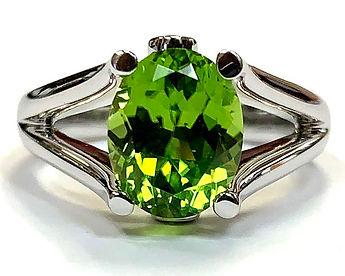 Prisms Peridot Ring