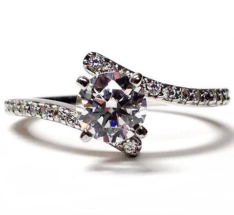 Bypass Diamond Engagement Ring Mounting