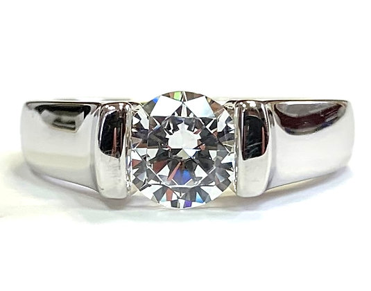 Semi-Bezel Solitaire Engagement Ring Mounting