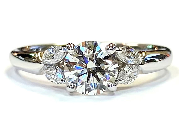 Marquise Shoulder Engagement Ring Mounting