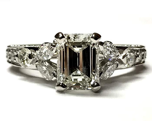 """Emilie"" Floral Diamond Engagement Ring Mounting"