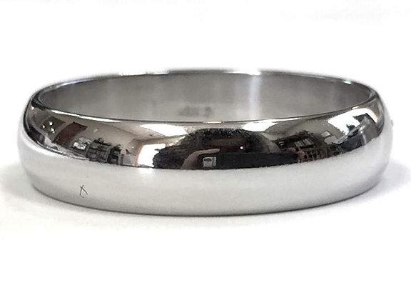 5mm Half Round Polished Wedding Ring