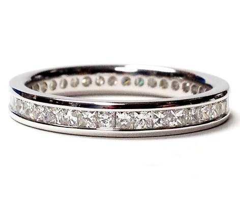 Eternity Channel Set 1.00 Carat Princess Cut Diamond Band