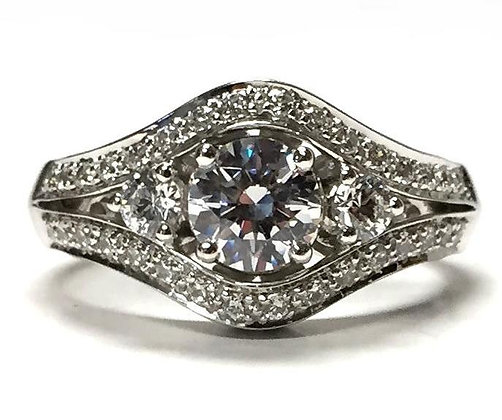 """Xanna"" Diamond Engagement Ring Mounting"