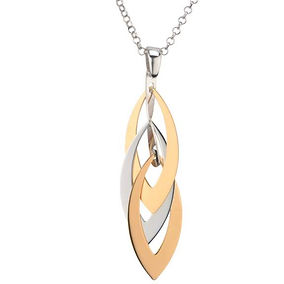 frederic duclos layers necklace sterling silver gold plate