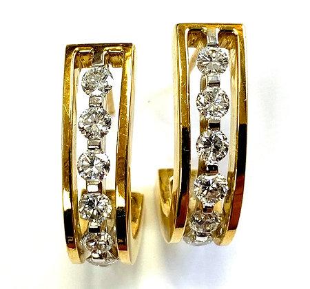 "Diamond ""J"" Earrings - 2.00ct"