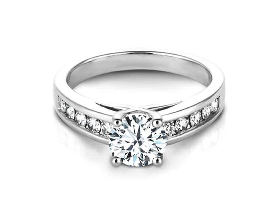 """Hannah"" Graduated Diamond Engagement Ring Mounting"
