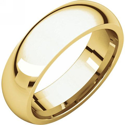 6mm Comfort Fit Polished Wedding Ring