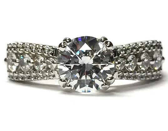 """Mya"" Tapered Diamond Engagement Ring Mounting"