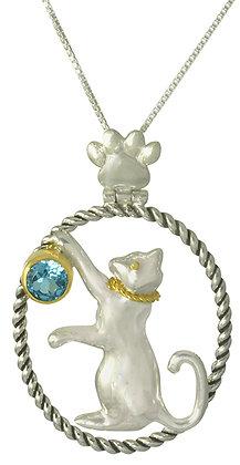 Playful Cat Necklace