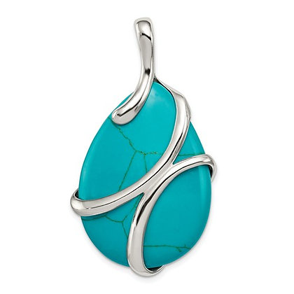 Synthetic Turquoise Pendant