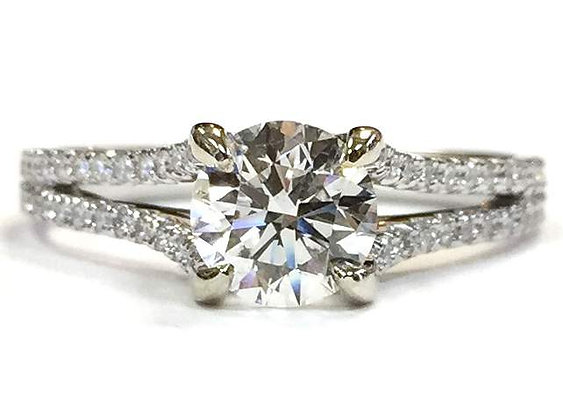 """Shanda"" Diamond Engagement Ring Mounting"
