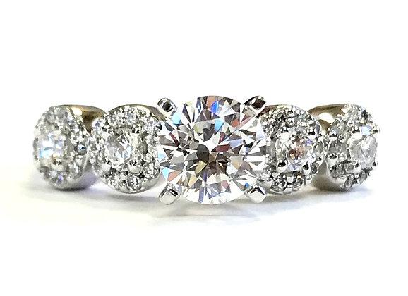 Circles Diamond Engagement Ring Mounting