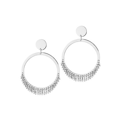 Circle & Charms Earrings