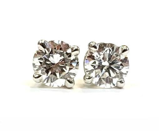 Diamond Stud Earrings 0.77 CTW