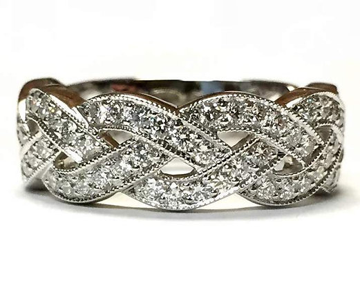 """""""Eryn"""" Braided Diamond Ring"""