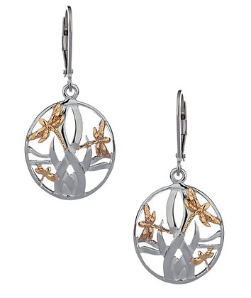 """Dragonfly In Reeds"" Earrings"