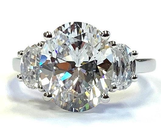 Half-Moon Engagement Ring