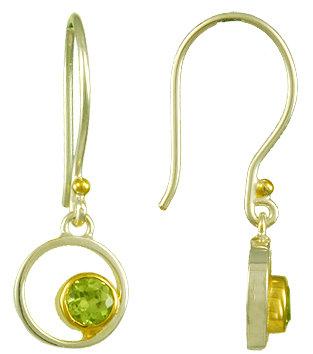 """Askew"" Earrings - Peridot"