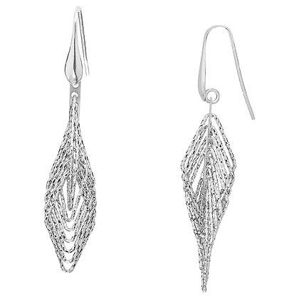 Cascading Geometric Drop Earrings