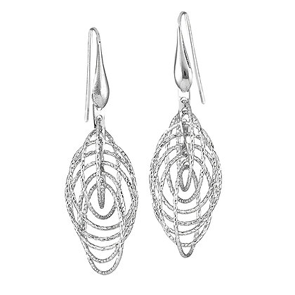 Cascading Geometric Drop Earrings