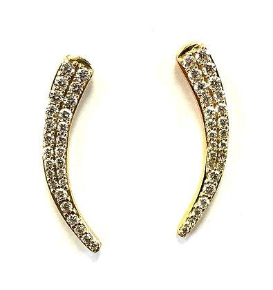 Slipper Moon Diamond Earrings