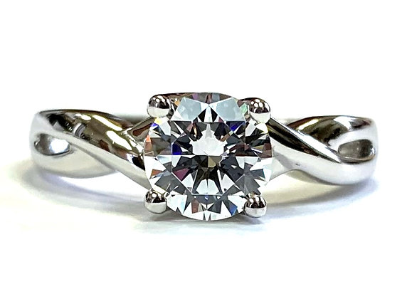 Solitaire Twist Engagement Ring Mounting