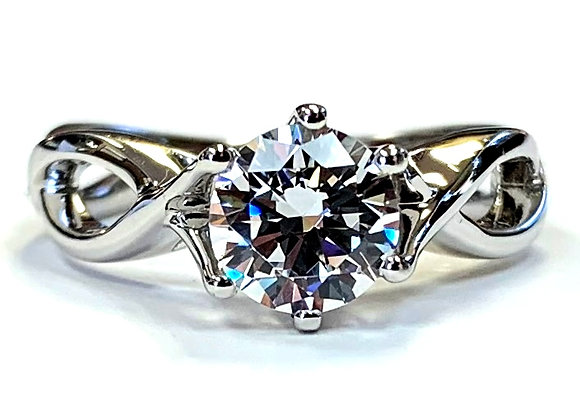 Infinity Solitaire Engagement Ring Mounting