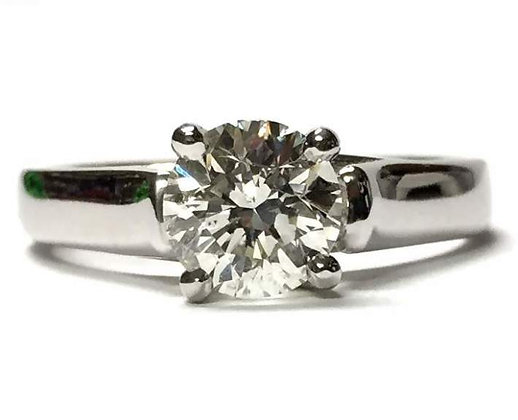 Trellis Solitaire Engagement Ring Mounting
