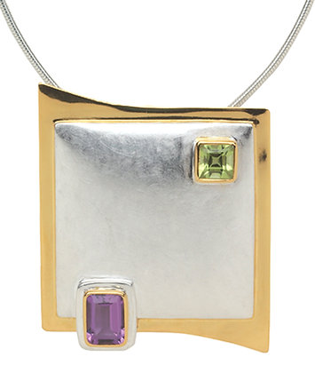 Squares In Stylized Frame Necklace