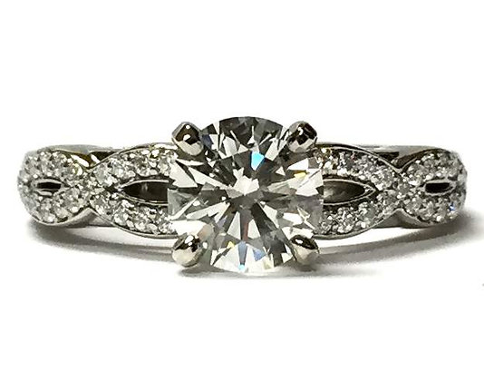 Infinity Diamond Engagement Ring Mounting