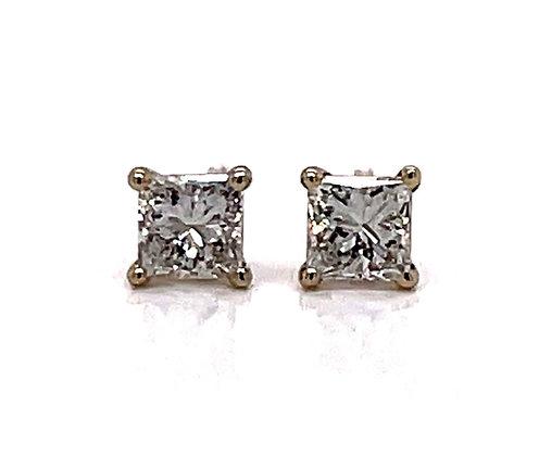 Princess Cut Diamond Earrings 0.36CTW
