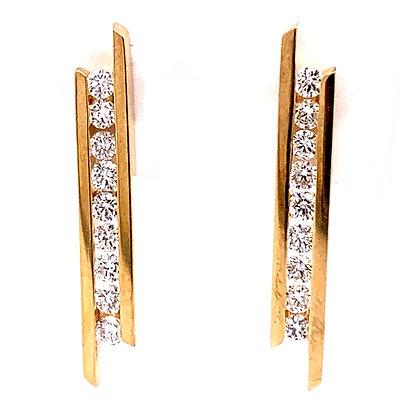 Uneven Channel Bar Earrings