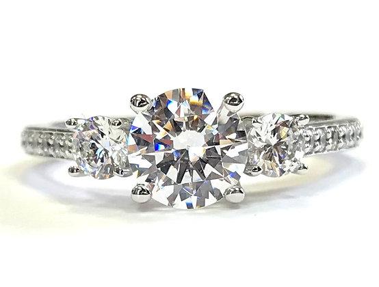 3-Stone Engagement Ring Mounting