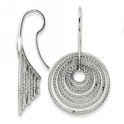 3D Circles Dangle Earrings