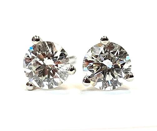 Diamond Stud Earrings 0.75 CTW