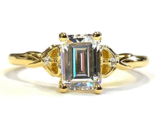 Open Heart Accent Engagement Ring Mounting