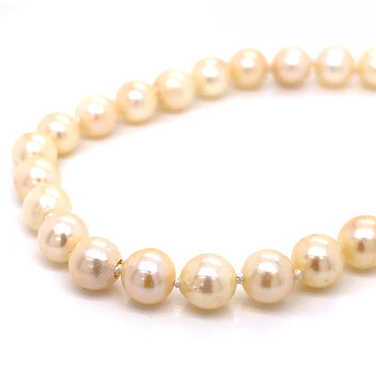"""Cultured Pearl Knotted Strand - 15"""""""