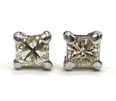 Princess Cut Diamond Stud Earrings 0.40 CTW