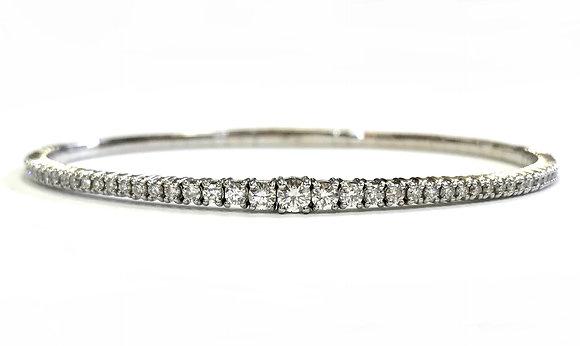 Graduated Diamond Bangle Bracelet