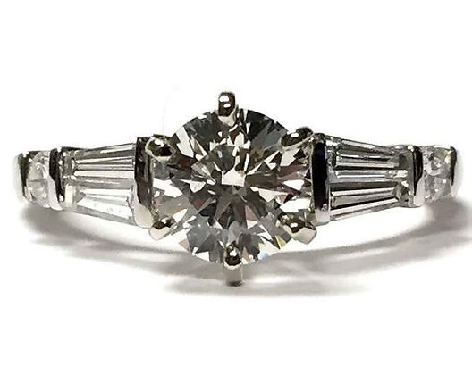 Baguette Diamond Engagement Ring Mounting