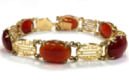yellow gold red jade bracelet gumps