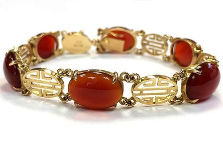 yellow gold red jade bracelet gumps