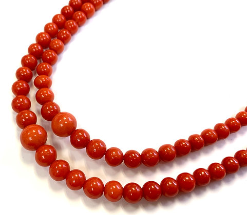 Coral Double-Strand Necklace