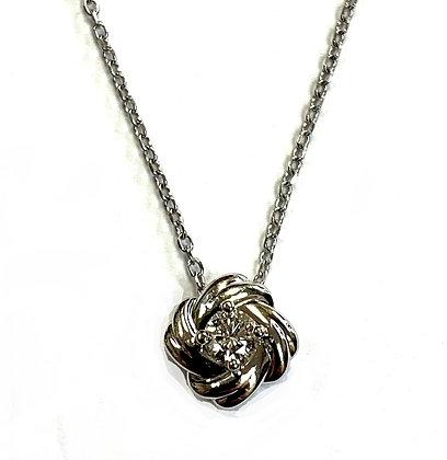 Diamond Knot Necklace