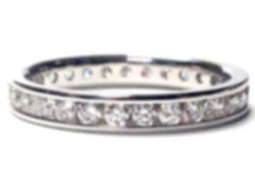 white gold diamond eternity wedding band