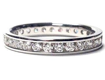 white gold diamond eternity wedding band